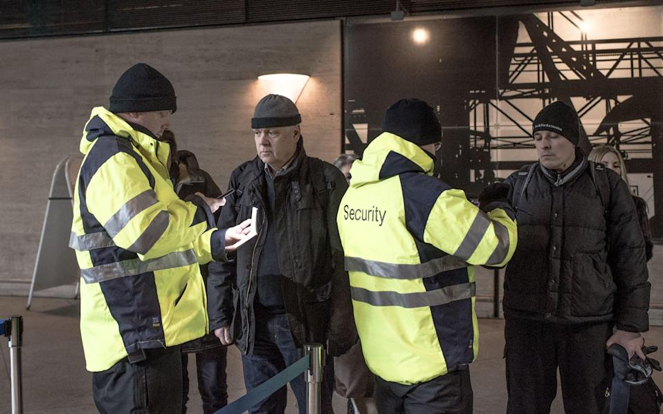 Border checks in Denmark, where there a tough restrictions on asylum seekers entering the country - GETTY IMAGES