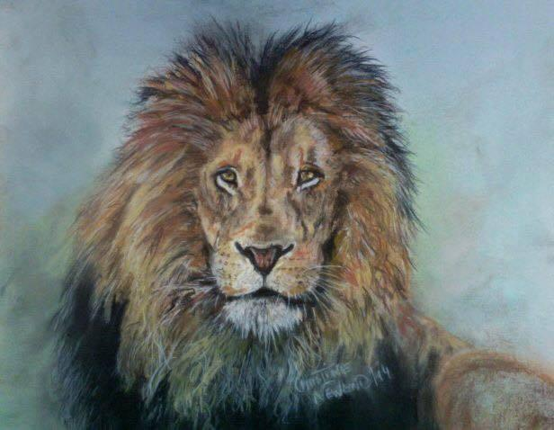 "<p>Artist Christine of Canada writes, ""hoping from his death will come a better awareness of the need to end trophy hunting and protect all wild animals!"" (Credit: <a href=""https://www.facebook.com/1634967960077848/photos/pb.1634967960077848.-2207520000.1438719948./1637288949845749/?type=3&theater"" rel=""nofollow noopener"" target=""_blank"" data-ylk=""slk:Facebook/CeciltheLion"" class=""link rapid-noclick-resp"">Facebook/CeciltheLion</a>)<br></p>"