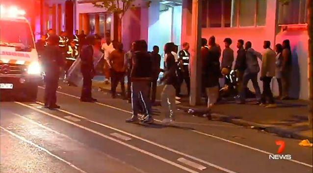 Some at the scene have blamed police for igniting tensions. Photo: 7 News