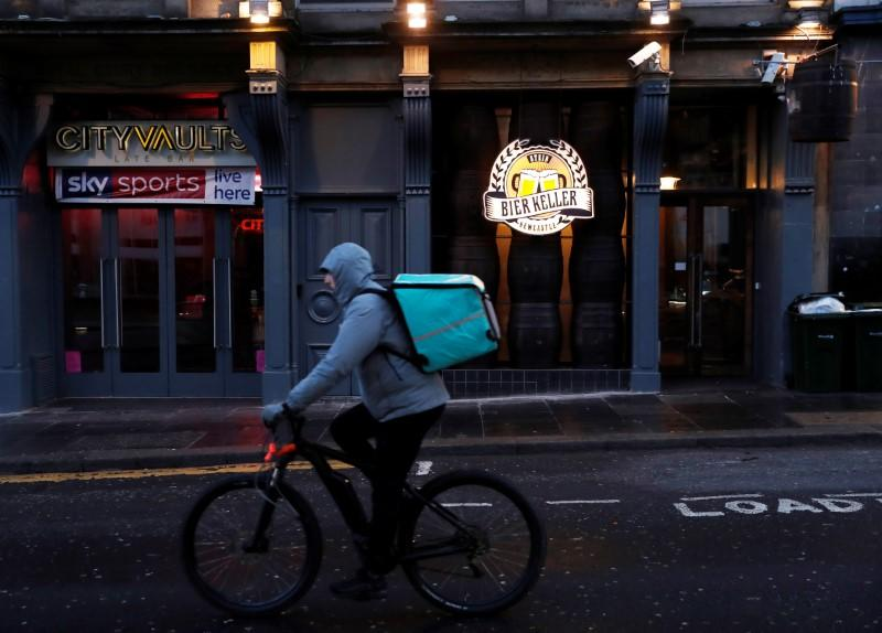 Deliveroo launches 'essentials' service in Britain to help isolators