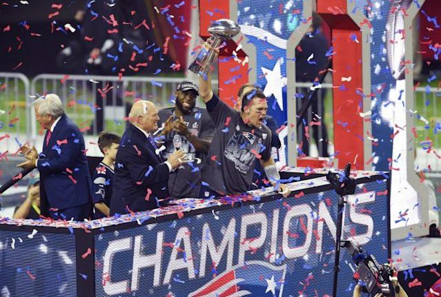 Tom Brady captured his fifth Super Bowl last season. Was thatenough to give the Patriots the top spot in the QB rankings? (Getty)