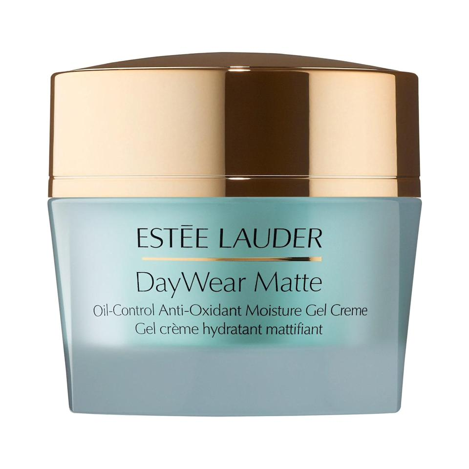 """<p>The product name may be a mouthful, but falling in love with <a href=""""https://www.allure.com/review/estee-lauder-daywear-matte-oil-control-antioxidant-moisture-gel-creme?mbid=synd_yahoo_rss"""" rel=""""nofollow noopener"""" target=""""_blank"""" data-ylk=""""slk:Estée Lauder's DayWear Matte Oil-Control Anti-Oxidant Moisture Gel Creme"""" class=""""link rapid-noclick-resp"""">Estée Lauder's DayWear Matte Oil-Control Anti-Oxidant Moisture Gel Creme</a> is a no-brainer. It has all the moisturizing effects of a rich cream and the mattifying effects of a primer — in other words, it's your skin's new best friend.</p> <p><strong>$54</strong> (<a href=""""https://shop-links.co/1650275152116344725"""" rel=""""nofollow noopener"""" target=""""_blank"""" data-ylk=""""slk:Shop Now"""" class=""""link rapid-noclick-resp"""">Shop Now</a>)</p>"""