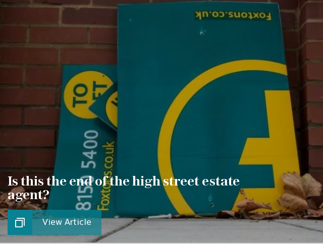 Is this the end of the high street estate agent?