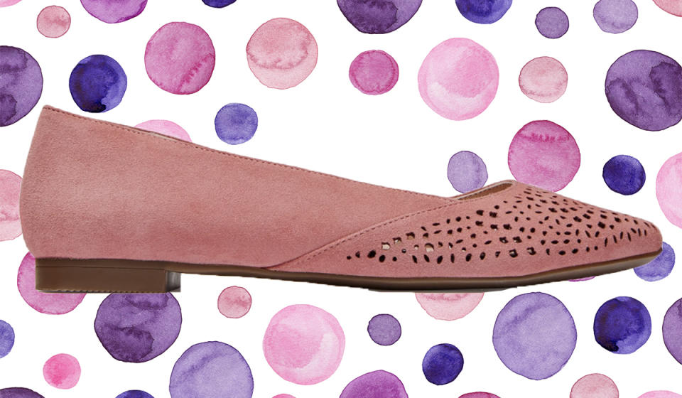 Yes — flats can be comfortable, too. (Photo: Vionic)