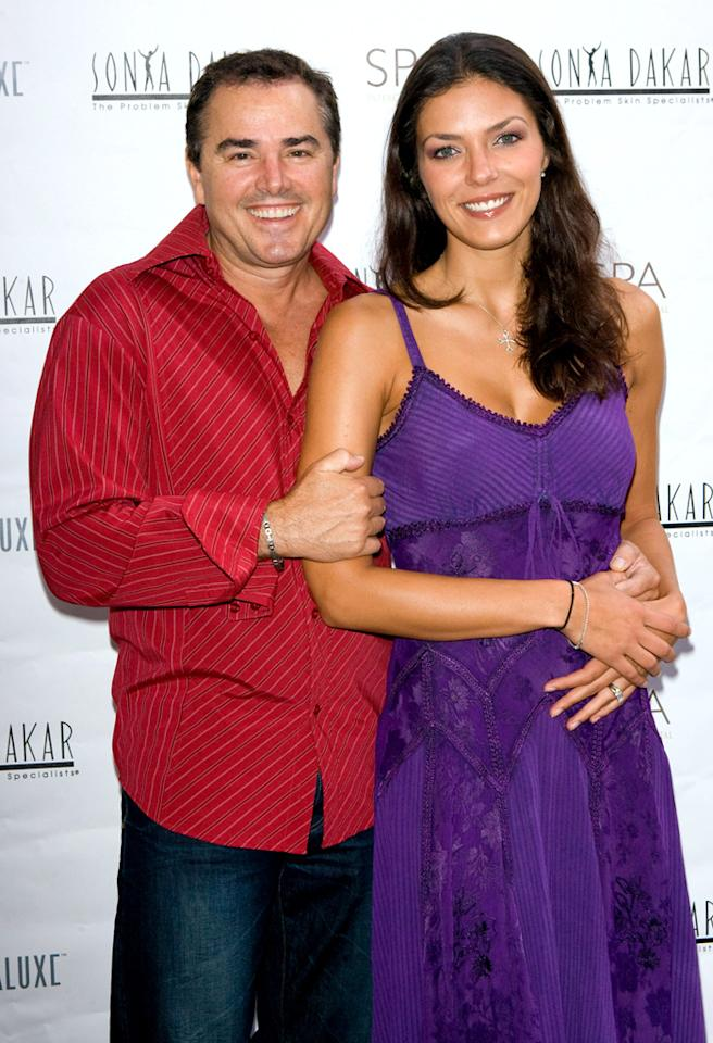 CENTURY CITY, CA - SEPTEMBER 16:  *** EXCLUSIVE ***:  Actor Christopher Knight and TV pesonality Adrienne Curry attend Sonya Dakar Celebrates Ultraluxe New Fall Products At Spa Intercontinental on September 16, 2009 in Century City, California.  (Photo by Michael Bezjian/WireImage) *** Local Caption *** Christopher Knight;Adrienne Curry