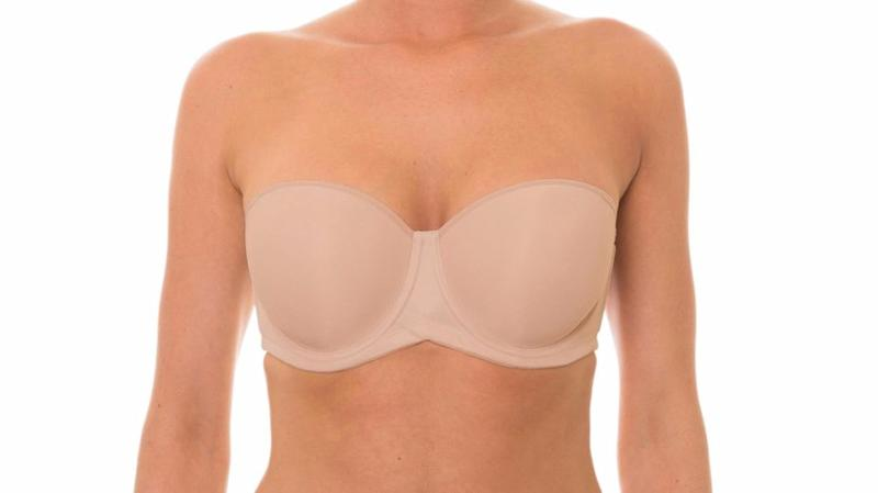 This Beautiful Silhouette Strapless Bra is invisible under any fabric.