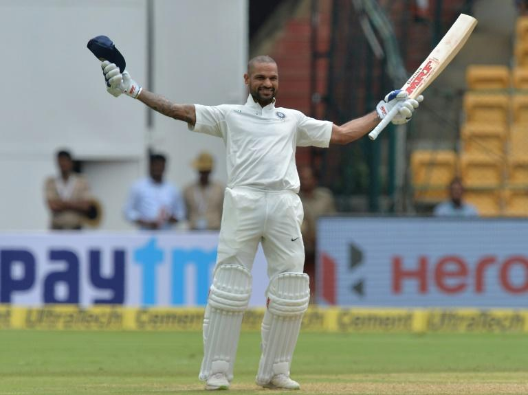 Shikhar Dhawan became the first Indian batsman to score a century in the first session of a Test