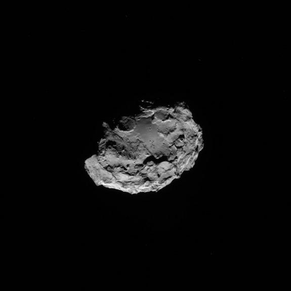 Rosetta Spacecraft Snaps Amazing 3D View of Comet (Photos, Video)