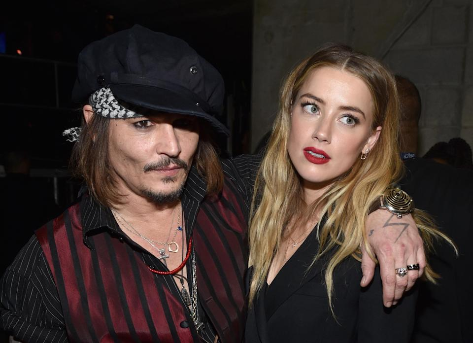 Johnny Depp and Amber Heard in February 2016, just months before their split. (Photo: John Shearer/WireImage)