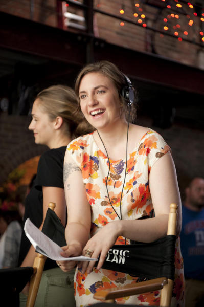 """This publicity photo released by HBO, shows the creator and star, Lena Dunham, of the HBO TV series, """"Girls."""" The darkly comedic coming-of-age story is a good bet for an Emmy nomination. The 64th Primetime Emmy Awards are announced on Thursday, July 19, 2012 in Los Angeles. (AP Photo/HBO, Ali Paige Goldstein)"""