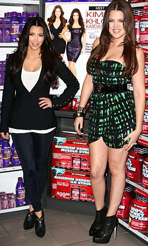 Kim and Khloe Kardashian. (Chelsea Lauren/WireImage)