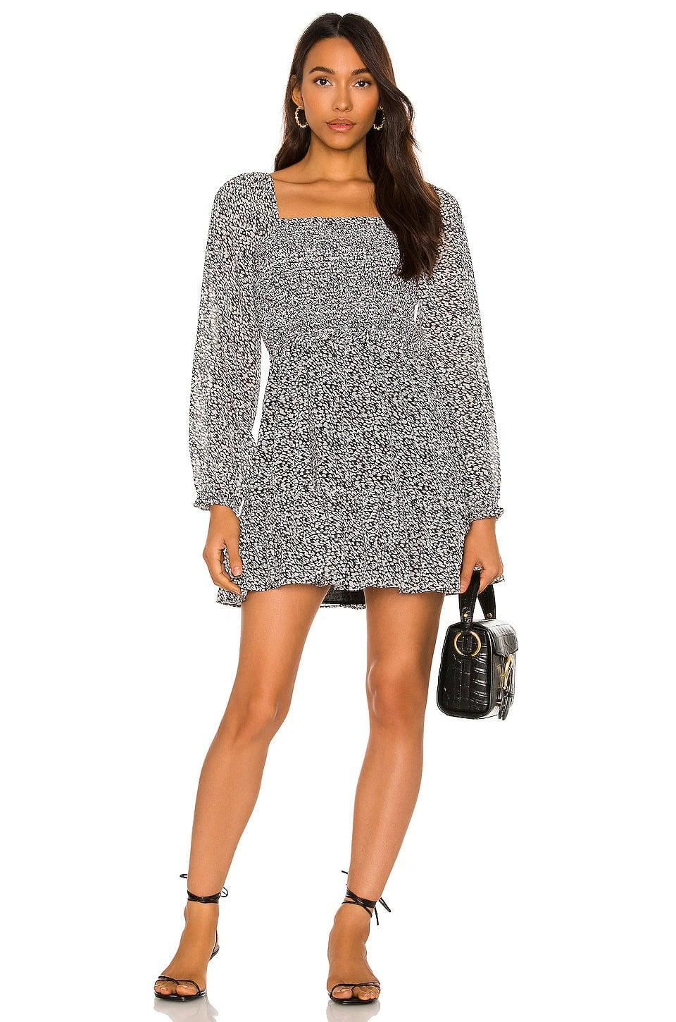 <p>We love this flattering and flowy <span>1. STATE Smocked Ruffle Dress in Black &amp; White</span> ($99). It's such a cute dress for brunch or even a date!</p>