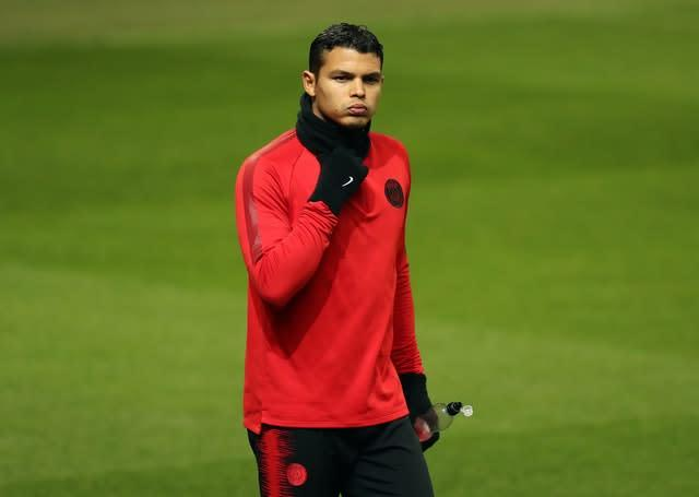 Arsenal are reportedly determined to secure Paris St Germain's Thiago Silva (Martin Rickett/PA)
