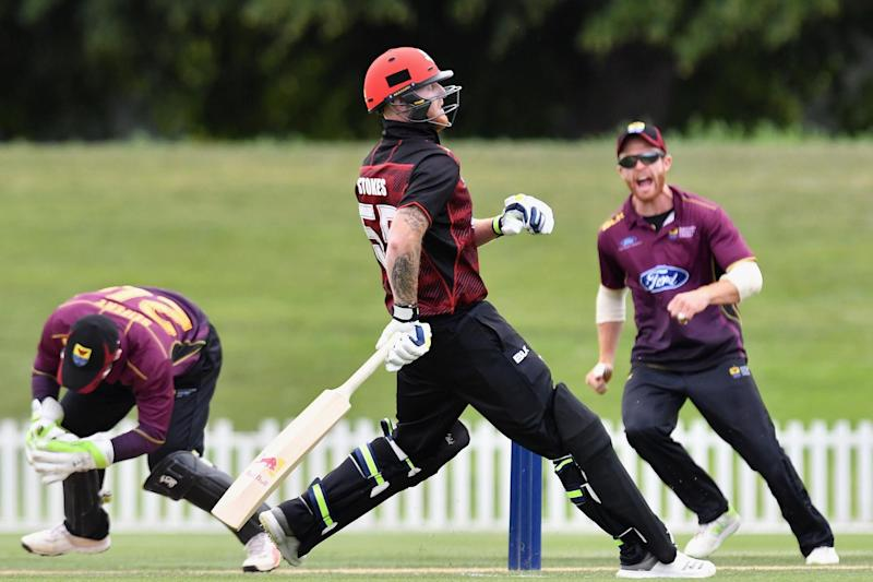 Run out: Stokes has scored 36 runs in three innings for Canterbury: Getty Images