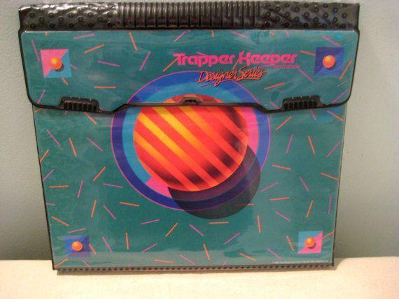 """<p>Trapper Keepers were one of those school supplies every '80s and '90s kid had to have. From the iconic """"trapper"""" flap on the front to the bulky three-ring binder inside, this was an extremely cool accessory. It came in a variety of designs and colors, and held everything a kid needed throughout the day. They were eventually replaced by Five Star binders, and the vintage ones we all loved are nowhere to be found. </p>"""