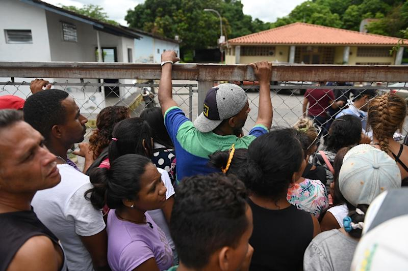 According to an internal report seen by AFP, the Acarigua police station was holding 500 inmates in a space built for 60 (AFP Photo/Marvin RECINOS)