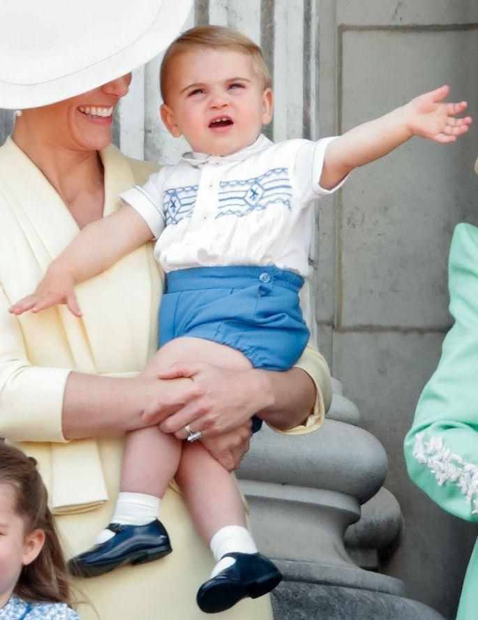 <p>Rounding out the Cambridges' path to the throne is 2-year-old Prince Louis. As Prince William's third child, Louis was born into the primo position of being able to capitalize on all the perks of being a royal, but with an extremely tiny chance of ever having to take on the responsibility of becoming king, since he'll be superseded by both of his older siblings' kids.</p>
