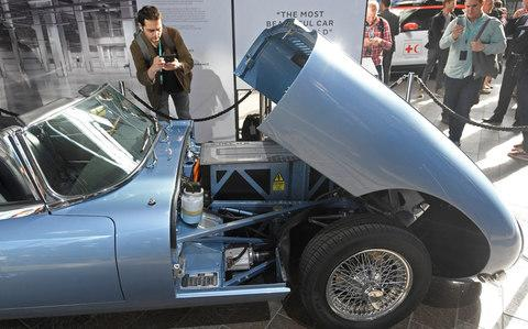 Electric Jaguar E-Type - Credit: Reuters