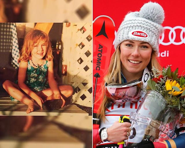 <p><strong>THEN:</strong> A young Mikaela Shiffrin soaks up the sun.<br><strong>NOW:</strong> She just won a gold medal at the 2018 Winter Olympics. She's also the youngest athlete in history to win an Olympic slalom gold medal (Sochi 2014).<br> (Photo via Instagram/mikaelashiffrin, Photo by Alexis Boichard/Agence Zoom/Getty Images) </p>
