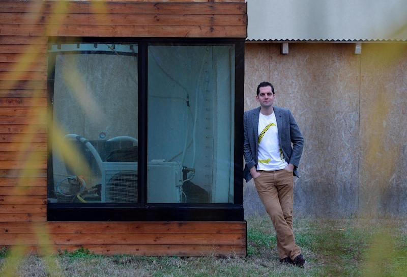 Our goal should be to use less energy and materials, and take cities off-grid as much as possible, says Matyas Gutai. The water-house is one way to do that (AFP Photo/Attila Kisbenedek)
