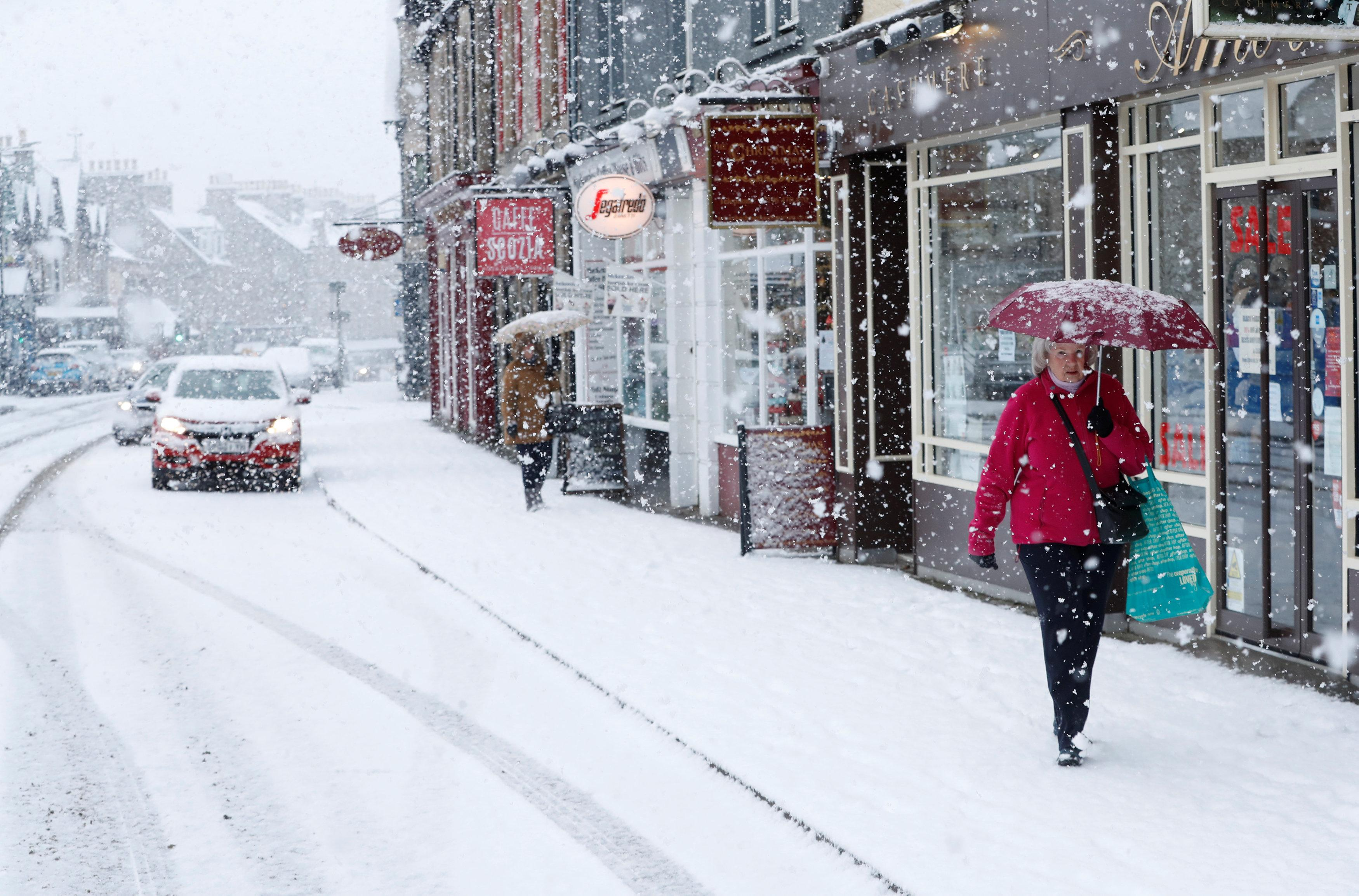 Pitlochry, Scotland, has already had snow this week [REUTERS/Russell Cheyne]
