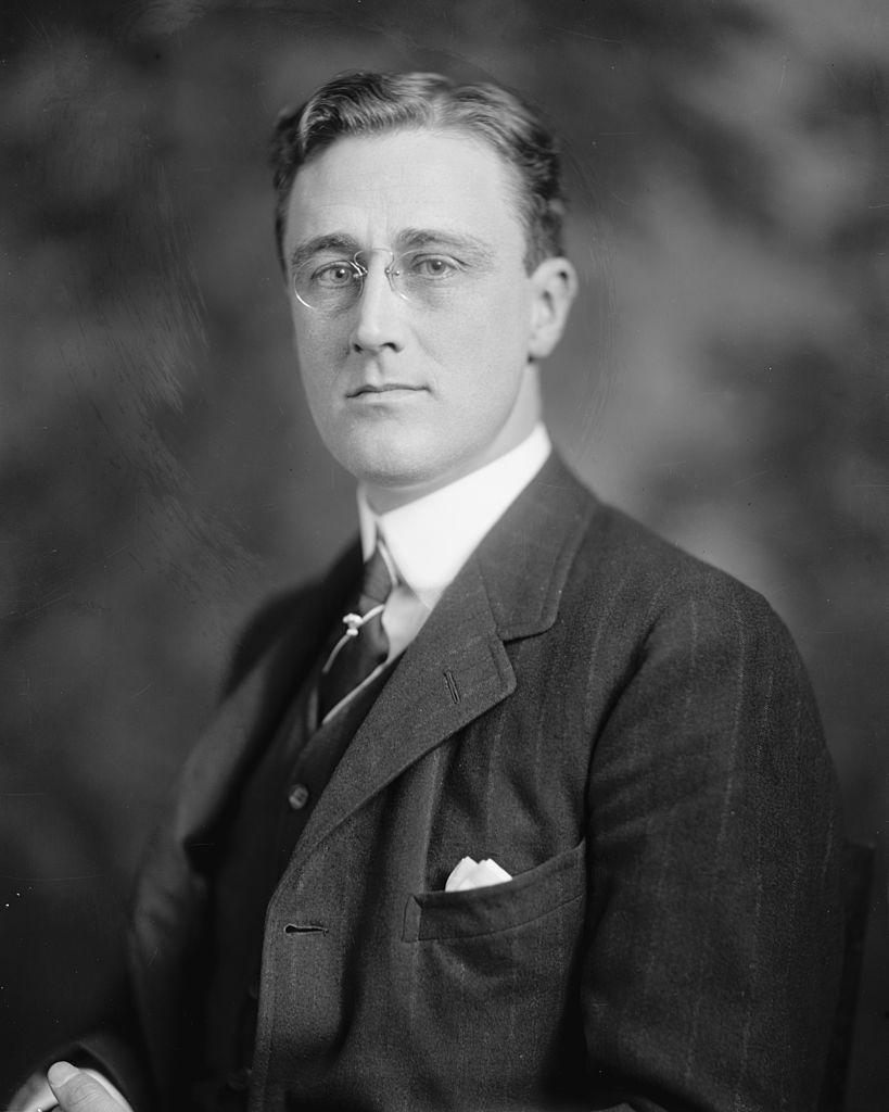 <p>President Franklin D. Roosevelt was midway through his first term of office in 1935. And his name was also surging in popularity: It hit 65 that year, while Frank came in at 16. (The top three were no shock, though. Robert, James, and John and Mary, Shirley, and Barbara held steady.)</p>