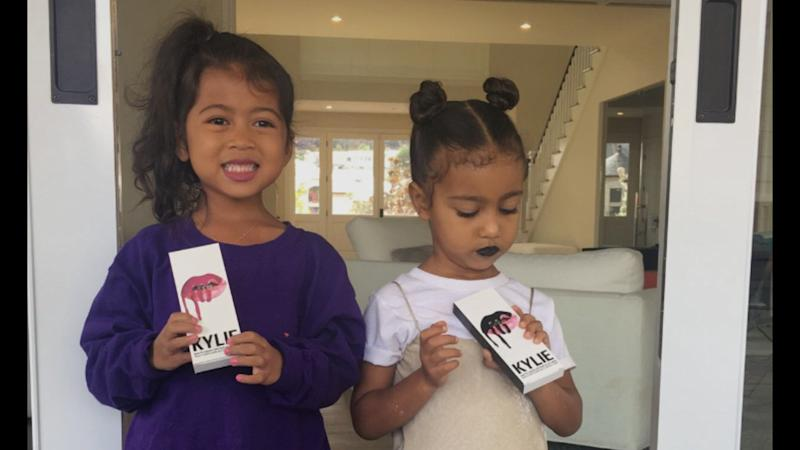 """North West Finally Tried Out """"Auntie Kylie's"""" Lip Kit"""
