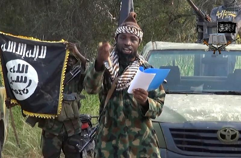 A video image of Abubakar Shekau, leader of the Nigerian Islamist extremist group Boko Haram, which has carried out deadly attacks in the country's northeast as well as parts of Cameroon, Niger and Chad