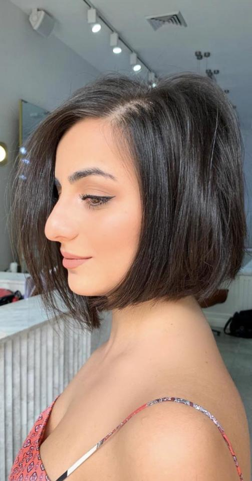 <p>The trendiest take on a bob we've seen all year, this chin-hugging cut is all the inspiration we need. </p>