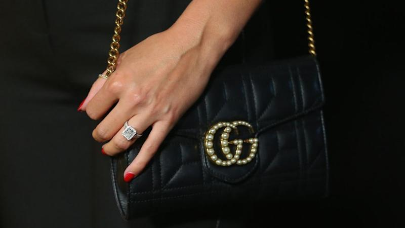 Karl has denied rumours Jasmine's ring is worth $120K and has categorically denied she is pregnant. Source: Getty