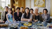"""<p>Sometimes love can look like high expectations. Sometimes it looks like unconditional support. And sometimes, it looks like lying. In <em>The Farewell,</em> a far-flung Asian-American family gathers for a """"wedding"""" that is really a ruse: The grandmother is dying, and the clan has gathered to see her one last time...and the grandmother doesn't know she's sick. Family secrets, awkward moral dilemmas, more advice than you can use and more love than you know what to do with. All centered around a ritual that's really just an excuse to get together. I could be describing almost any holiday right now. And it stars <a href=""""https://www.glamour.com/story/awkwafina-faves?mbid=synd_yahoo_rss"""" rel=""""nofollow noopener"""" target=""""_blank"""" data-ylk=""""slk:Awkwafina"""" class=""""link rapid-noclick-resp"""">Awkwafina</a>!</p> <p><a href=""""https://www.amazon.com/Farewell-Awkwafina/dp/B07V4TH3M5"""" rel=""""nofollow noopener"""" target=""""_blank"""" data-ylk=""""slk:Available to stream on Amazon Prime Video"""" class=""""link rapid-noclick-resp""""><em>Available to stream on Amazon Prime Video</em></a></p>"""