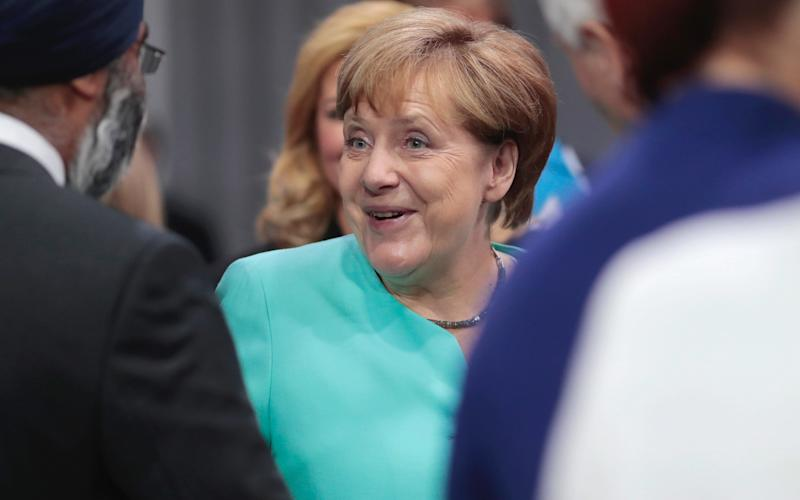 Mrs Merkel appears to have beaten back her most significant challenger in a decade