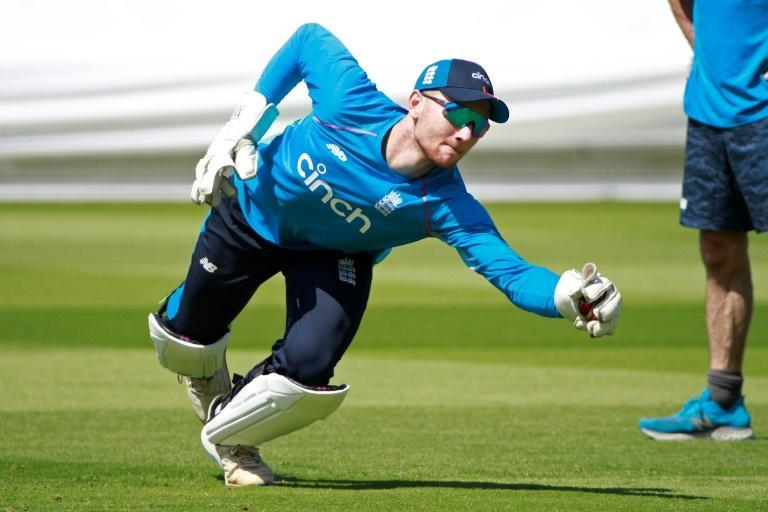 Keeping up - England's James Bracey during a Monday training session at Lord's, where the first Test against New Zealand starts on Wednesday