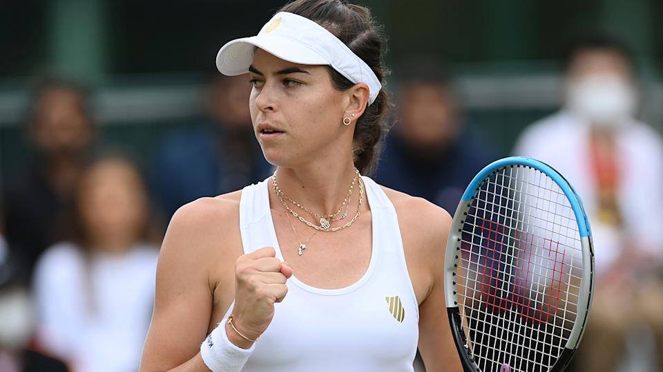 Ajla Tomljanovic has won through to the Wimbledon quarter finals, setting up a showdown with fellow Australian star Ash Barty. (Photo by Mike Hewitt/Getty Images)