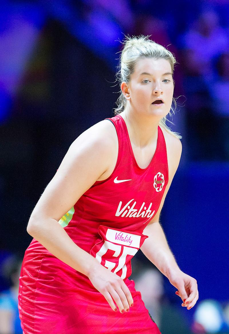 Picture by Allan McKenzie/SWpix.com - 13/07/2019 - Netball - Vitality Netball World Cup - England v Scotland - M&S Bank Arena, Liverpool, England - Francesca Williams.