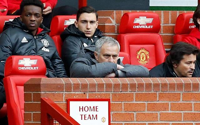 <span>Even Mourinho found it hard to watch</span> <span>Credit: PA </span>