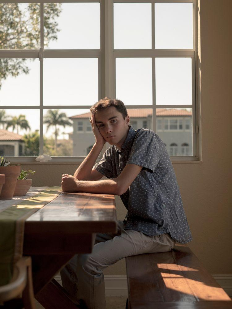 David Hogg at his home in Parkland.