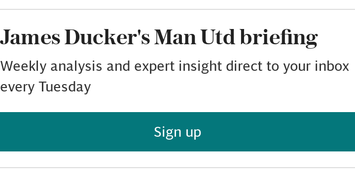 James Ducker's Man Utd briefing