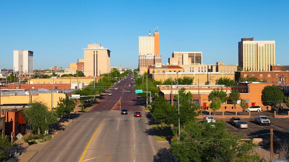 Downtown Lubbock, Texas.