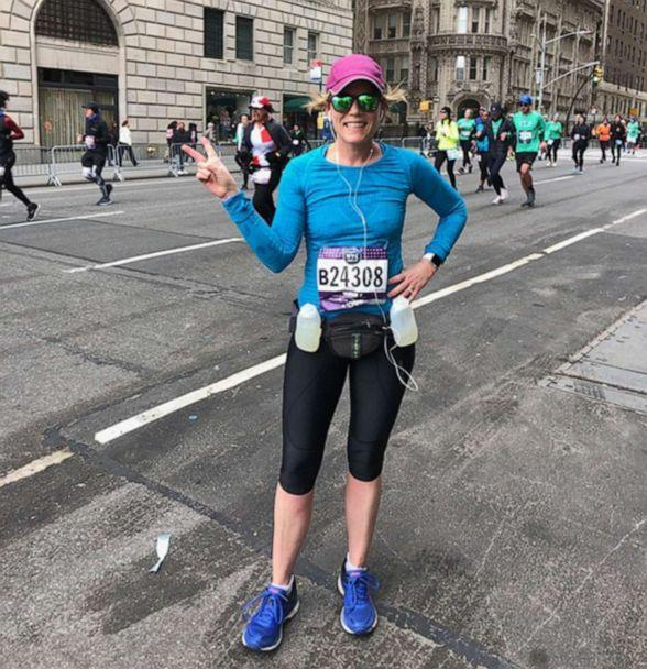PHOTO: Celeste Yvonne poses for a photo during the New York Half Marathon in March 2019. (Courtesy Celeste Yvonne)