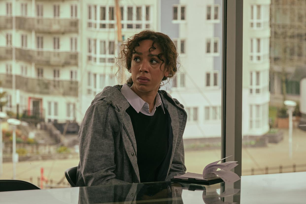 SILVERPRINT FOR ITV THE LONG CALL EPISODE 1  Pictured:PEARL MACKIE as DS Jen Rafferty.  This image is under copyright and may only be used in relation to THE LONG CALL.Any further use must be agreed with the ITV Picture Desk.    For further information please contact: Patrick.smith@itv.com 07909906963