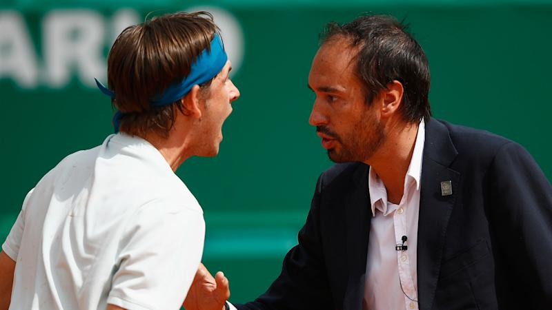 American tennis player Jared Donaldson confronts umpire in heated Monte Carlo exchange