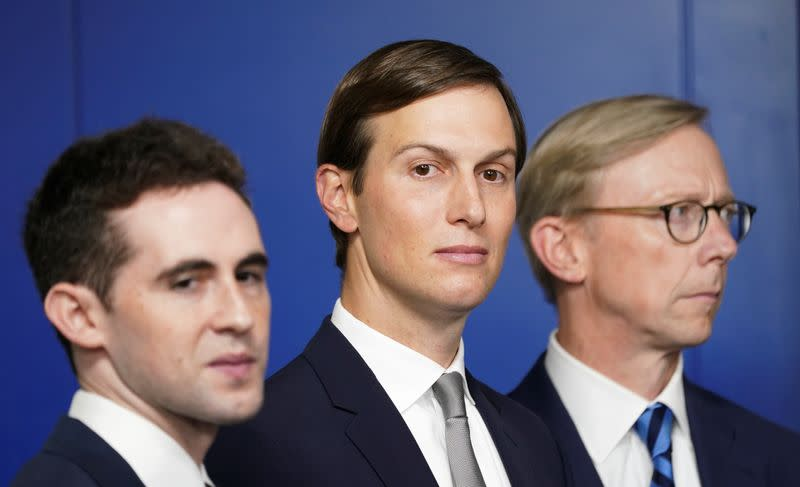 Kushner at a press briefing on the Israel-UAE agreement at the White House in Washington
