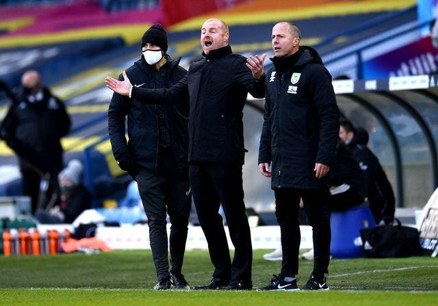 Sean Dyche's Burnley lost at Leeds