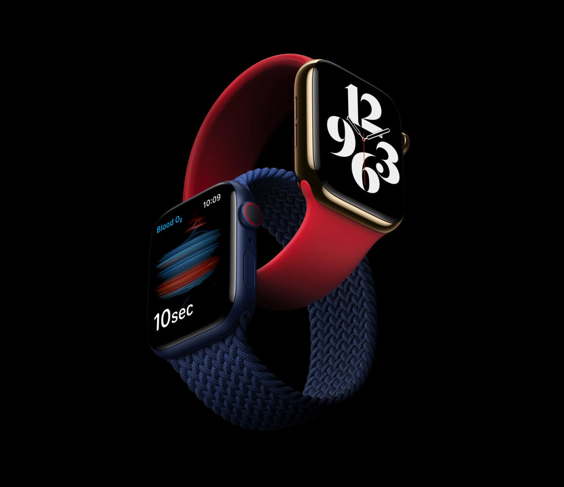 Featuring a Blood Oxygen sensor and app, new case finishes, and watchOS 7