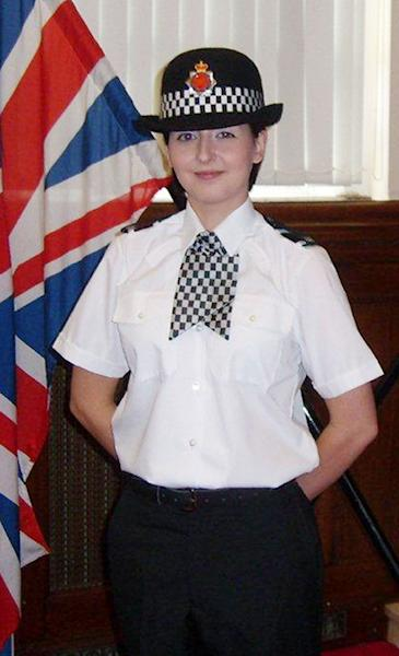 """Undated handout photo issued by Greater Manchester Police of PC Nicola Hughes, aged 23, who was killed in the line of duty while attending a """"routine incident"""" in Manchester England Tuesday Sept. 18, 2012 . (AP Photo/Greater Manchester Police)"""