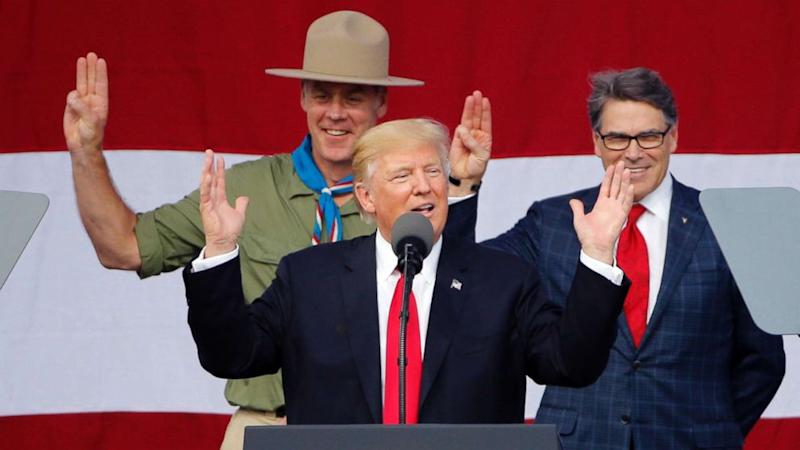 Trump citing phone calls with Boy Scouts and Mexico they say never happened