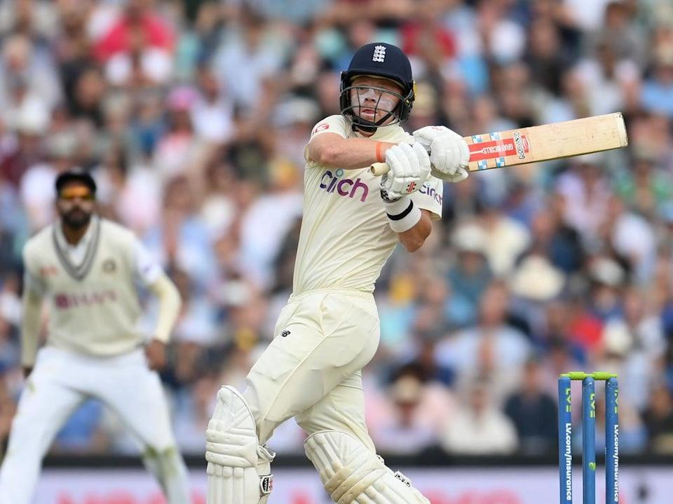 Ollie Pope hooks a bouncer to the boundary on day two of the fourth Test (Getty Images)