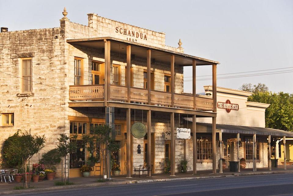 "<p><a href=""https://www.tripadvisor.com/Tourism-g55863-Fredericksburg_Texas-Vacations.html"" rel=""nofollow noopener"" target=""_blank"" data-ylk=""slk:This small town"" class=""link rapid-noclick-resp"">This small town</a> has surprising German roots and old-time residents even refer to it as Fritztown. But the Magic Mile (a shopping scene with more than 150 stores) and some of the best wine tasting in Texas are what keeps the tourists coming back.</p>"