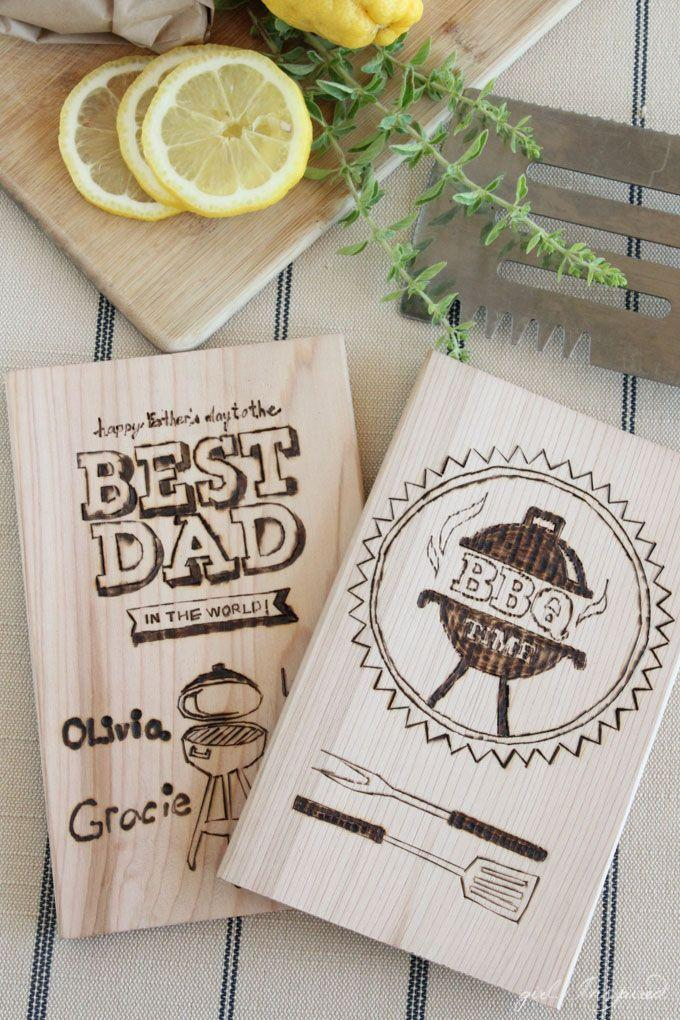 """<p>Use this creative wood-burning technique to create coasters or a cutting board for the No. 1 dad around. </p><p><a href=""""https://thegirlinspired.com/personalized-wood-burning-for-dad/"""" rel=""""nofollow noopener"""" target=""""_blank"""" data-ylk=""""slk:Get the tutorial."""" class=""""link rapid-noclick-resp"""">Get the tutorial.</a></p><p><a class=""""link rapid-noclick-resp"""" href=""""https://www.amazon.com/Walnut-Hollow-Introduction-Intermediate-Woodburners/dp/B000VRTG8Y/ref=zg_bs_262717011_1?_encoding=UTF8&psc=1&refRID=DH2JQ0GSXXYQ04FT1QCD&tag=syn-yahoo-20&ascsubtag=%5Bartid%7C10072.g.27603456%5Bsrc%7Cyahoo-us"""" rel=""""nofollow noopener"""" target=""""_blank"""" data-ylk=""""slk:SHOP WOODBURNER"""">SHOP WOODBURNER</a></p>"""